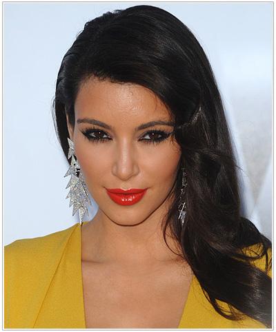 Kim Kardashian Long Straight Hairstyle