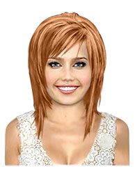 Copper blonde bob
