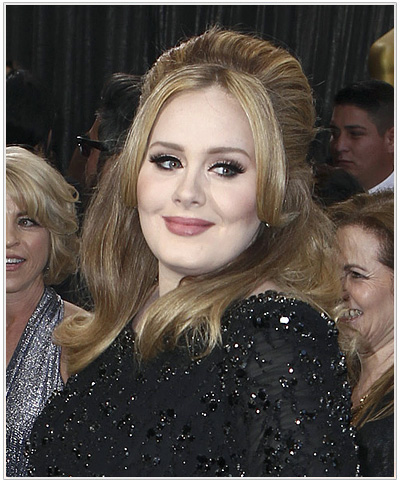 Adele Half Up Long Straight Hairstyle