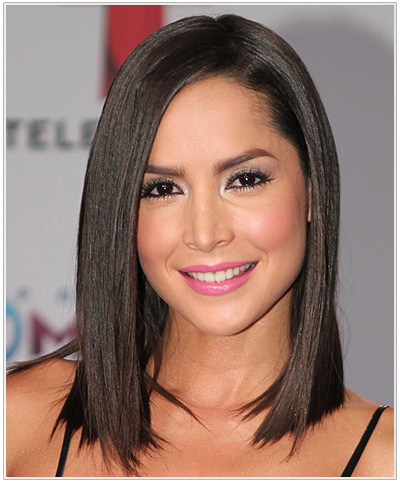 Carmen Villalobos Medium Straight Bob Hairstyle