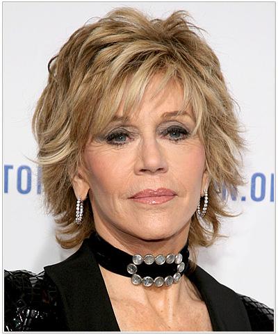 Jane Fonda Short Straight Hairstyle