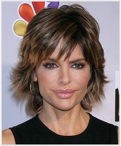 Lisa Rinna Short Straight Hairstyle