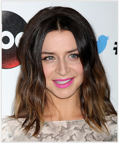 Caterina Scorsone Medium Straight Hairstyle