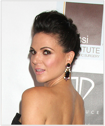 Lana Parrilla Updo Hairstyle