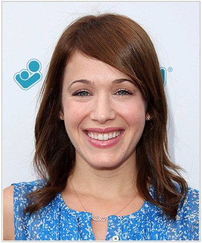 Marla Sokoloff Side Swept Bangs Hairstyle