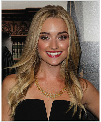 Brianne Howey Long Straight Hairstyle