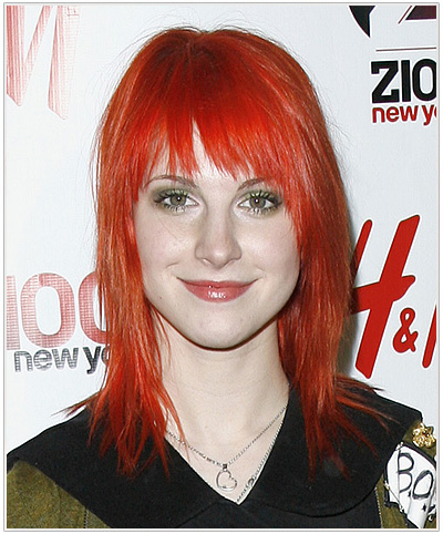 Hayley Williams Medium Straight Halloween Hairstyle