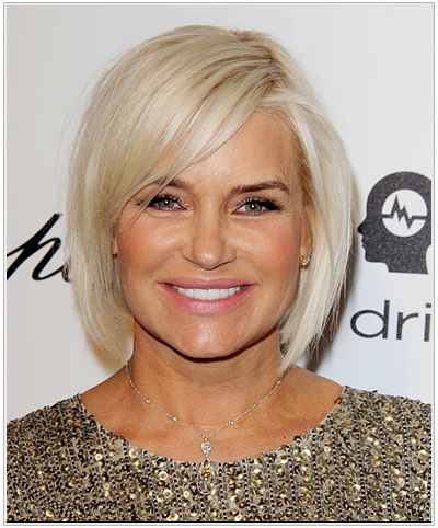 Yolanda Foster Medium Straight Bob Hairstyle