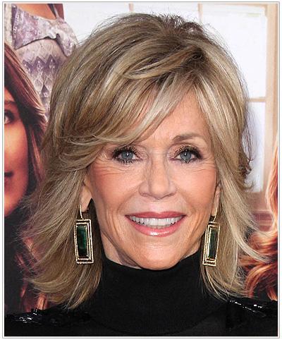Jane Fonda Medium Straight Hairstyle