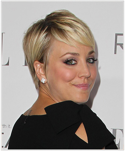 Kaley Cuoco Pixie Cut Hairstyle