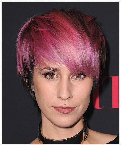 Dev Short Straight Pink Hairstyle