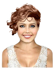 Short bridal hairstyle