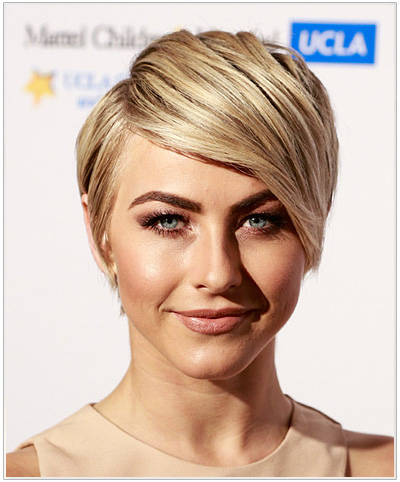 Julianne Hough Short Straight Hairstyle
