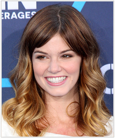 Rachel Melvin Long Wavy Ombre Hairstyle