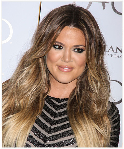 Khloe Kardashian Long Straight Hairstyle - Light Brunette