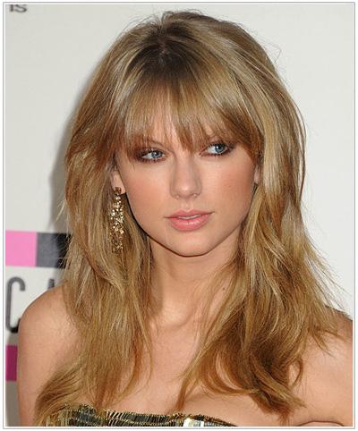Taylor Swift Long Straight Hairstyle - Dark Golden Blonde
