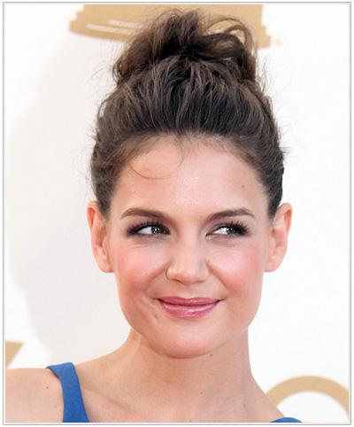 Katie Holmes Dark Brunette Updo Hairstyle