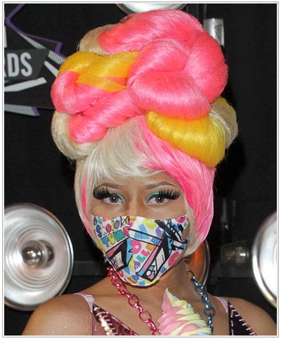 Nicki Minaj Long Curly Hairstyle