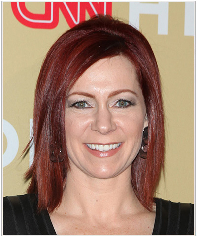 Carrie Preston Medium Straight Side Parted Hairstyle