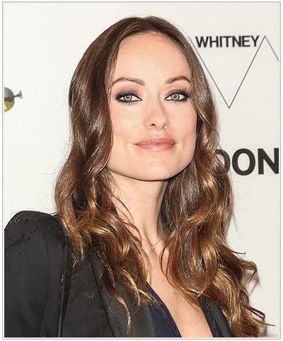 Olivia Wilde Long Wavy Hairstyle for Square Face Shapes