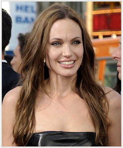 Angelina Jolie Long Straight Casual Hairstyle