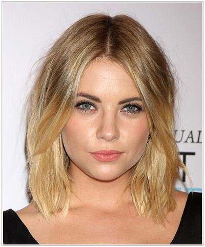Ashley Benson Medium Straight Blonde Hairstyle