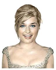 Fine medium length bridal hairstyle
