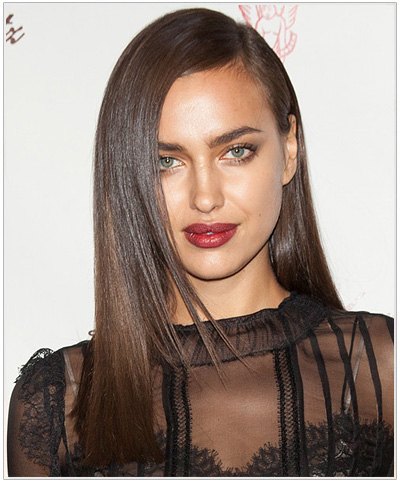 Irina Shayk Long Straight Hairstyle