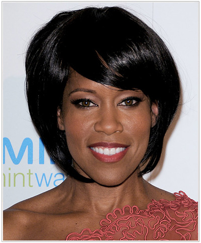 Regina King Medium Straight Bob Hairstyle