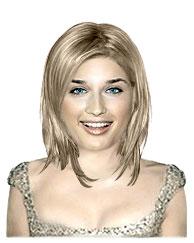 Fine medium length hairstyle