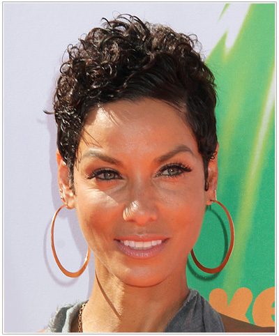 Nicole Mitchell Short Curly Hairstyle