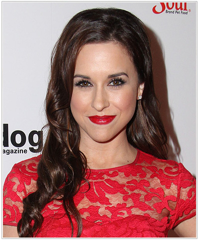 Lacey Chabert Long Wavy Brunette Hairstyle