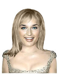 Fine medium length hairstyle with bangs