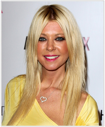 Tara Reid Long Straight Hairstyle