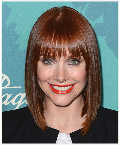 Bryce Dallas Howard Medium Straight Red Hairstyle