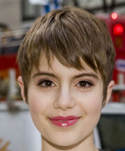 Sami Gayle Short Straight Pixie Hairstyle