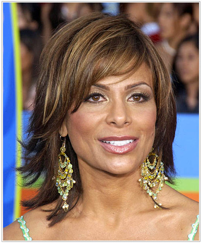 Paula Abdul Medium Straight Hairstyle