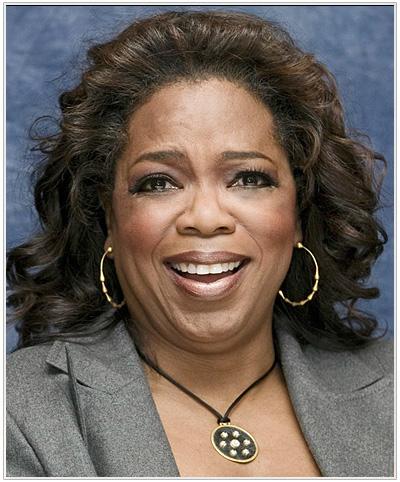 Oprah Winfrey Medium Curly Hairstyle