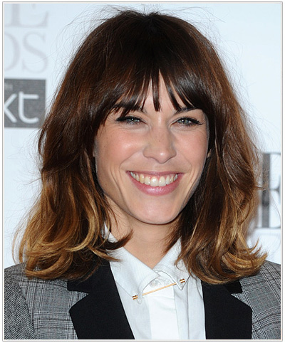 Alexa Chung Medium Straight Bob Swag Hairstyle.