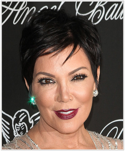 Kris Jenner Short Straight Hairstyle.