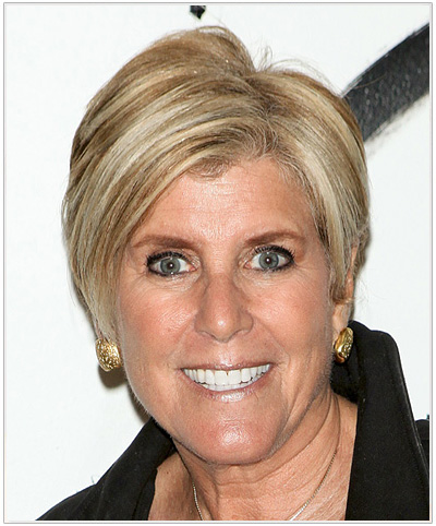 Suze Orman Short Straight Hairstyle.
