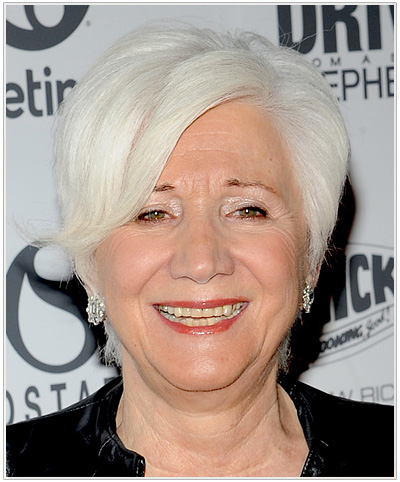 Olympia Dukakis Short Straight Hairstyle.