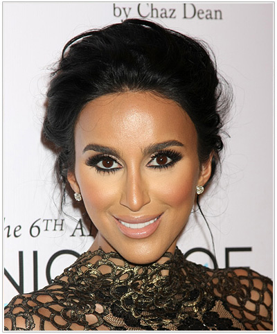 Lilly Ghalichi Updo Hairstyle for Oval face shapes.