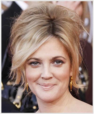 Drew Barrymore Formal Updo Hairstyle.