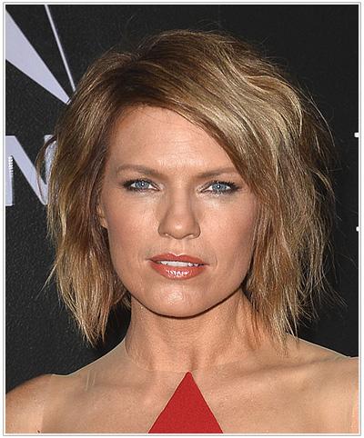 Kathleen Rose Perkins Medium Straight Hairstyle - Light Brunette.