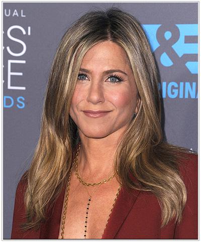 Jennifer Aniston Long Straight Hairstyle - Light Brunette.
