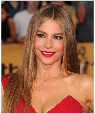 Sofia Vergara Long Straight Hairstyle.