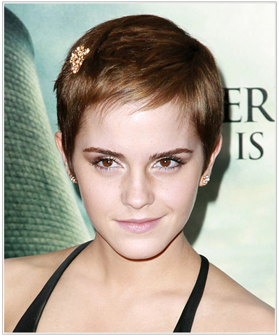 Emma Watson Short Straight Hairstyle.