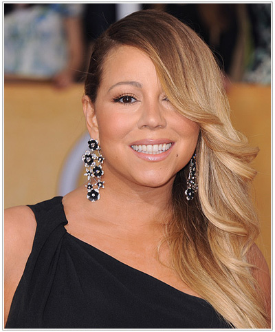 Mariah Carey Long Straight Hairstyle.