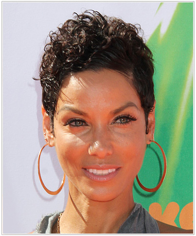Nicole Mitchell Short Curly Hairstyle.